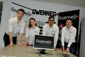 L'équipe de GwenneG compte 4 salariés basés à Rennes.
