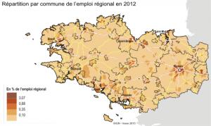 Une répartition plus homogène de l'emploi en Bretagne