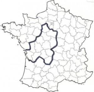 Carte 3 L'absurde proposition où se retrouvent mêlées Charentes, Poitou, Limousin (part du Massif Central), vallée de la Loire et même une partie de la vraie région parisienne (Eure et Loir) : Proposition officiellement formulée ! Peut-on avoir confiance dans la suite ?