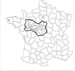 Carte 6 Le « Val de Loire », une nouvelle et vraie région française avec en son cœur la Loire et « irriguée » par ses grandes rivières tributaires du plus long (…et du plus beau !) fleuve français (Mayenne, Sarthe, Loir, Vienne, Indre, Cher…)
