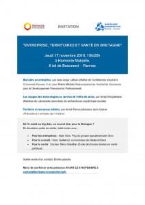 Entreprise, territoires et santé : jeudi 17 novembre à Rennes