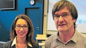 Rachel Portal-Sellin (Pôle mer Bretagne) et Philippe Potin (Idealg). | Ouest-France