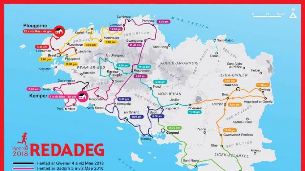 En mai, la Redadeg (par)court la Bretagne pour promouvoir la langue bretonne