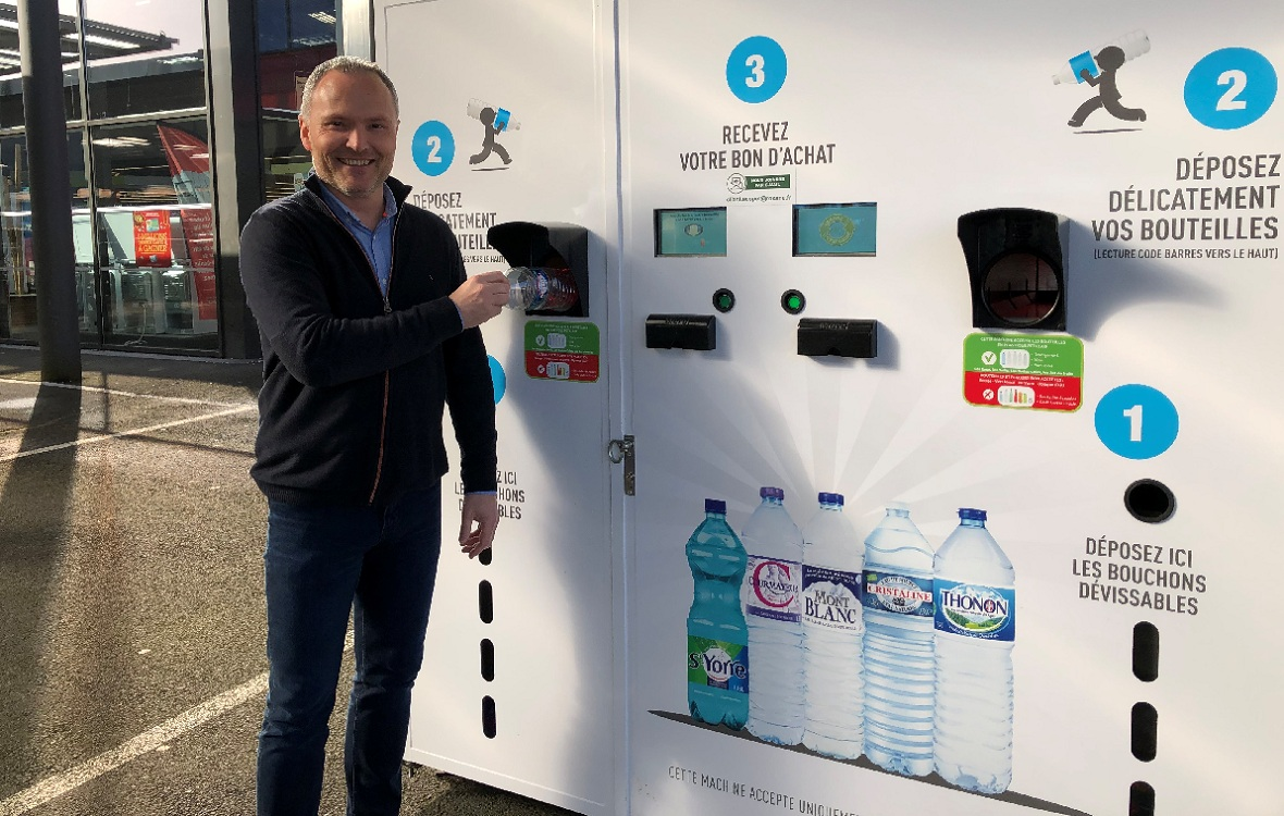 La Guerche-de-Bretagne : les bouteilles en plastique s'échangent contre des bons d'achat