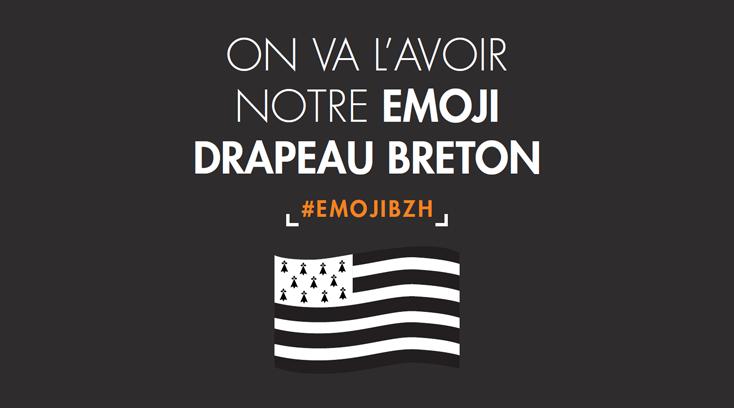 Soutenez la campagne pour obtenir l'emoji drapeau breton