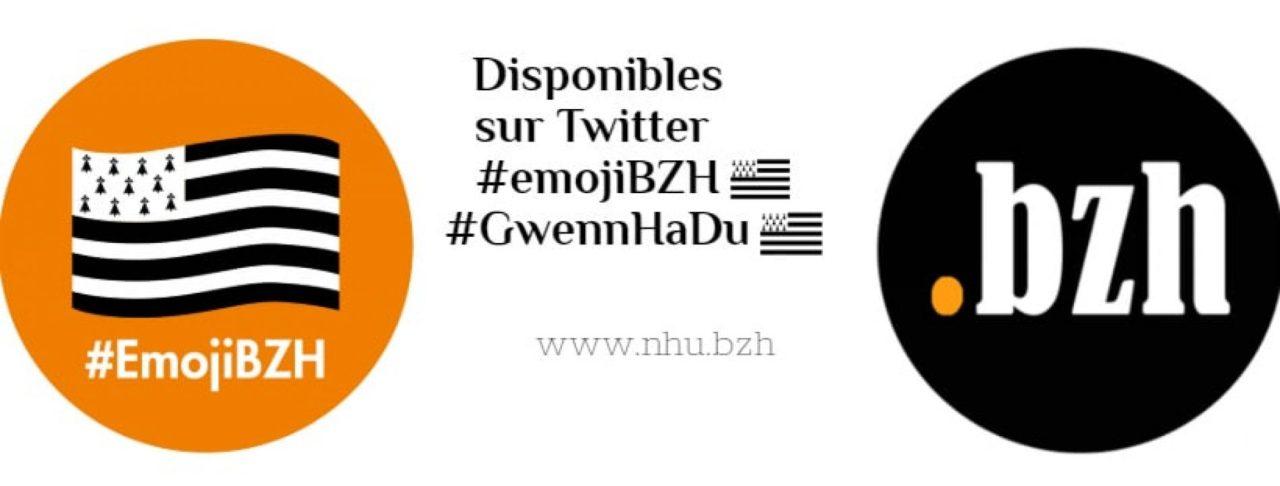 L'émoji BZH Gwenn ha du disponible sur Twitter