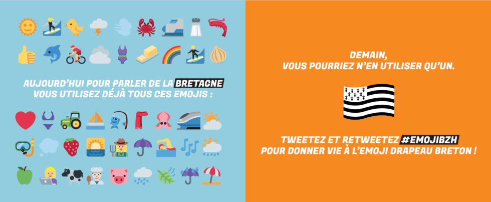 L'emoji drapeau breton en test jusqu'au 9 février !