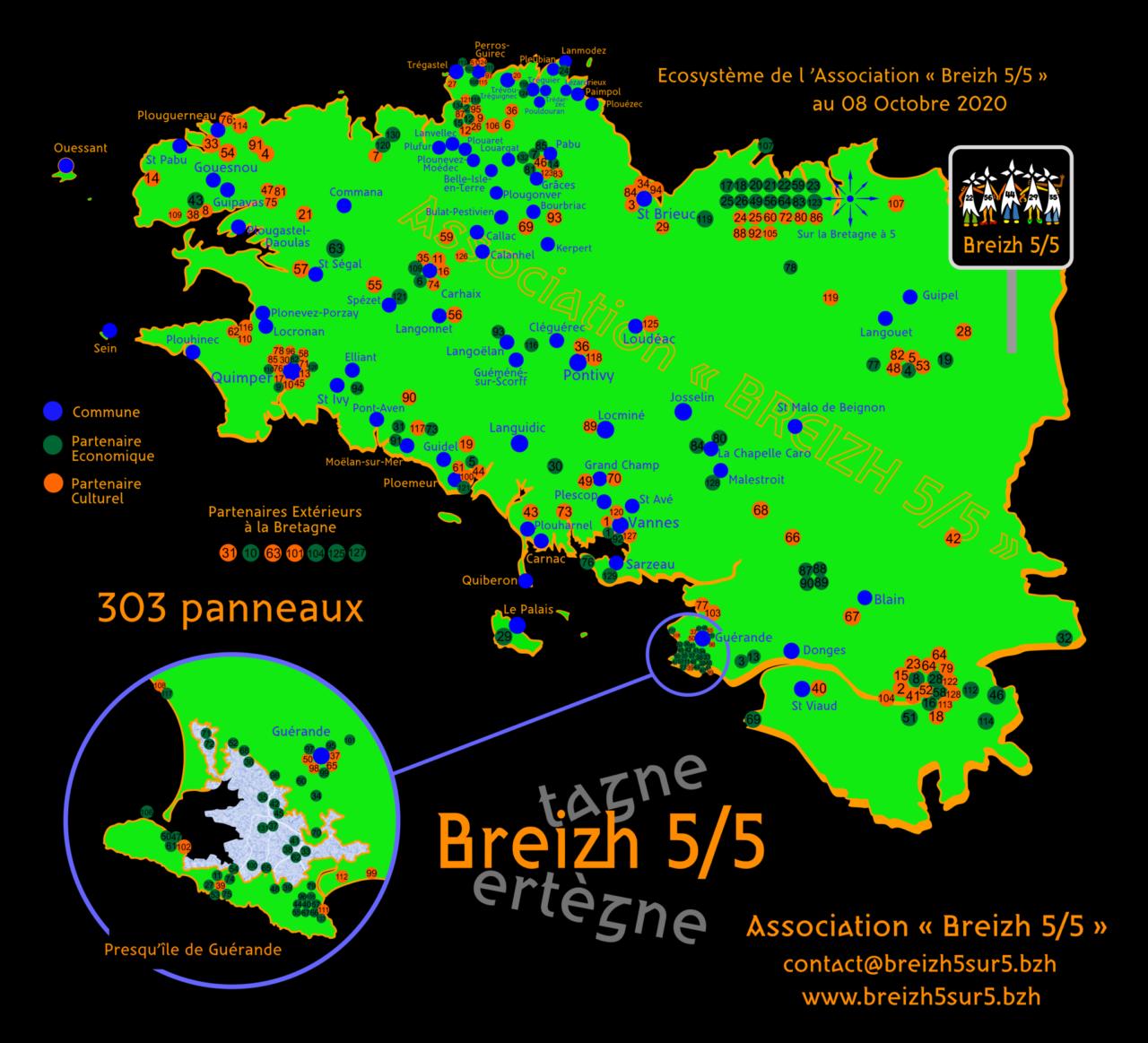 Des nouvelles communes s'affichent pour la Bretagne à 5 départements