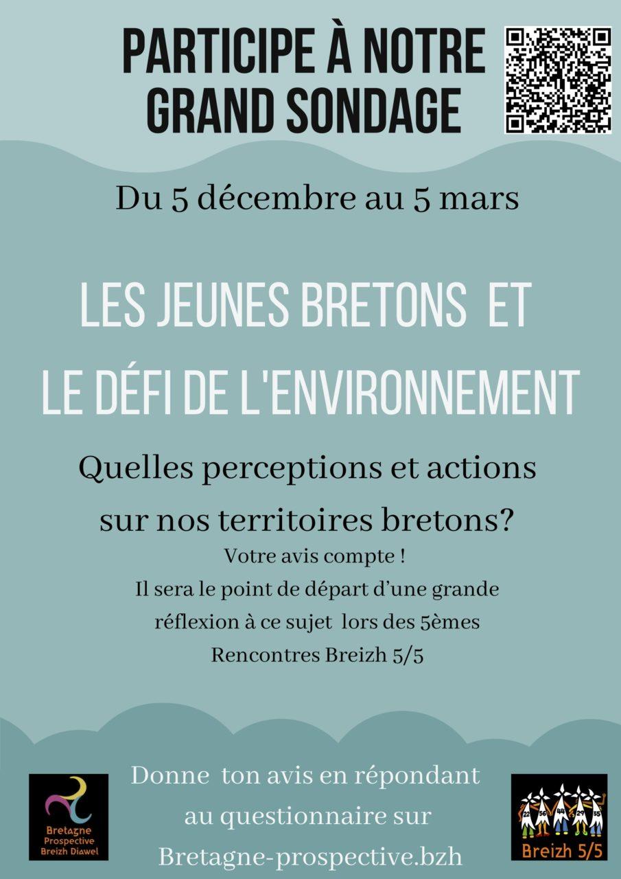 Les jeunes Bretons et le défi de l'environnement : répondez au sondage de Bretagne Prospective
