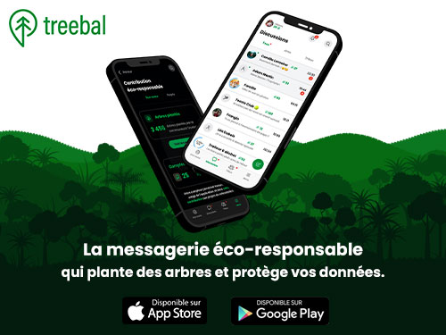 Treebal, la messagerie instantanée éco-responsable qui protège la planète et vos données